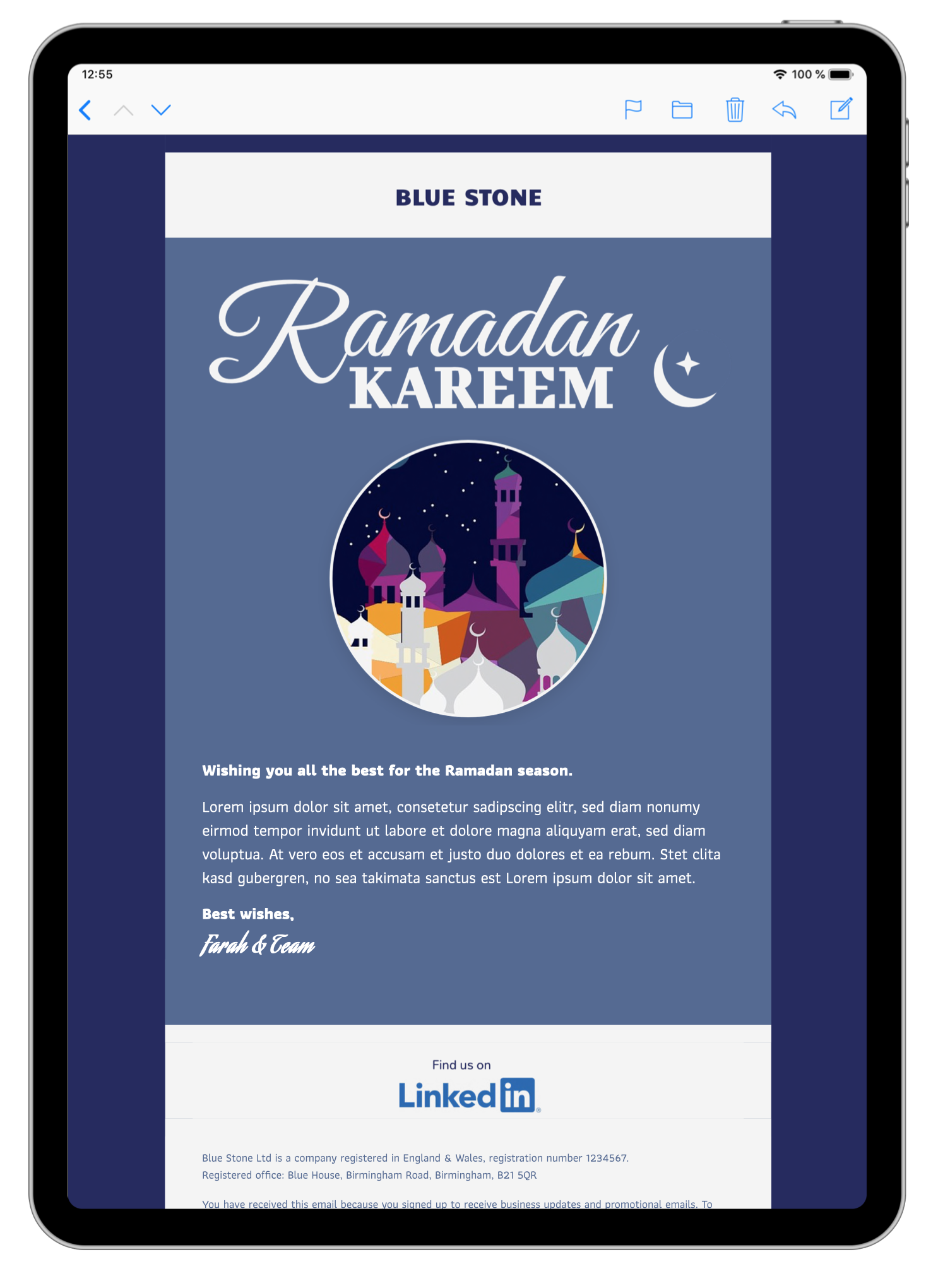 html email template for ramadan email greetings