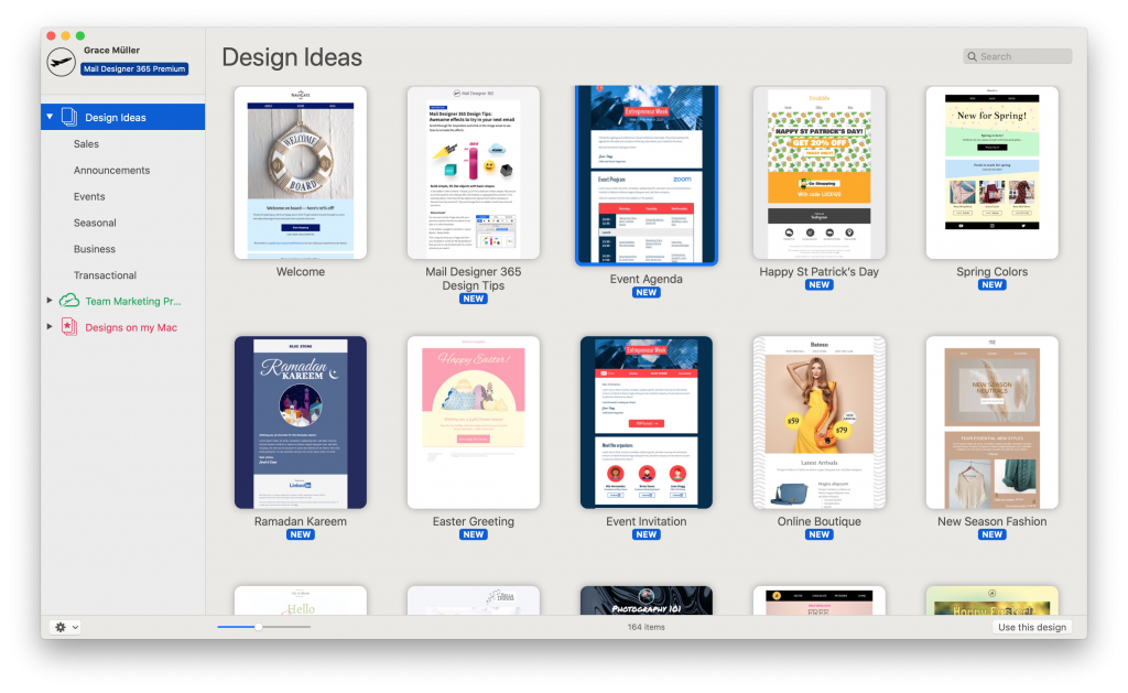 HTML email designs in Mail Designer 365