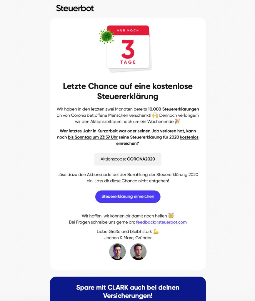 html e-mail-template von steuerbot