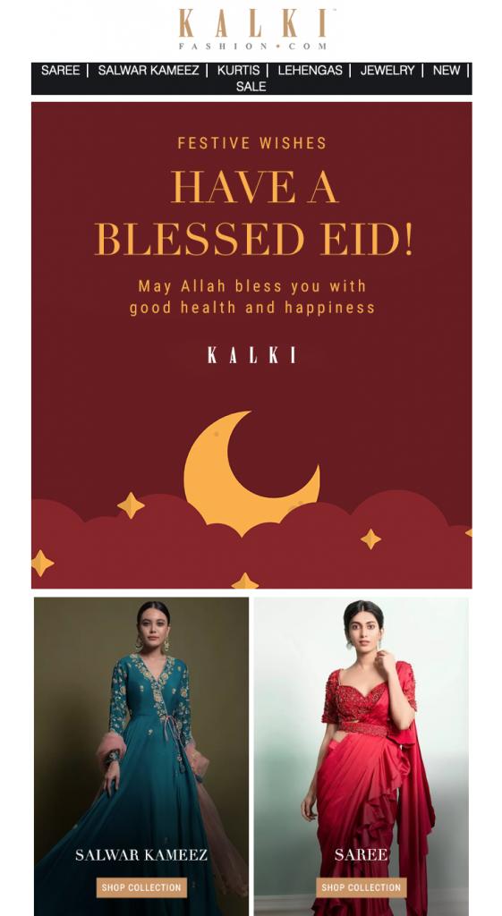 eid email design by Kalki Fashion