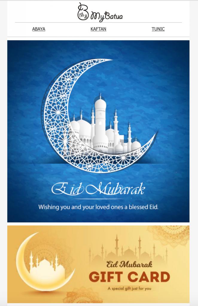 Eid Mubarak email template by My Batua