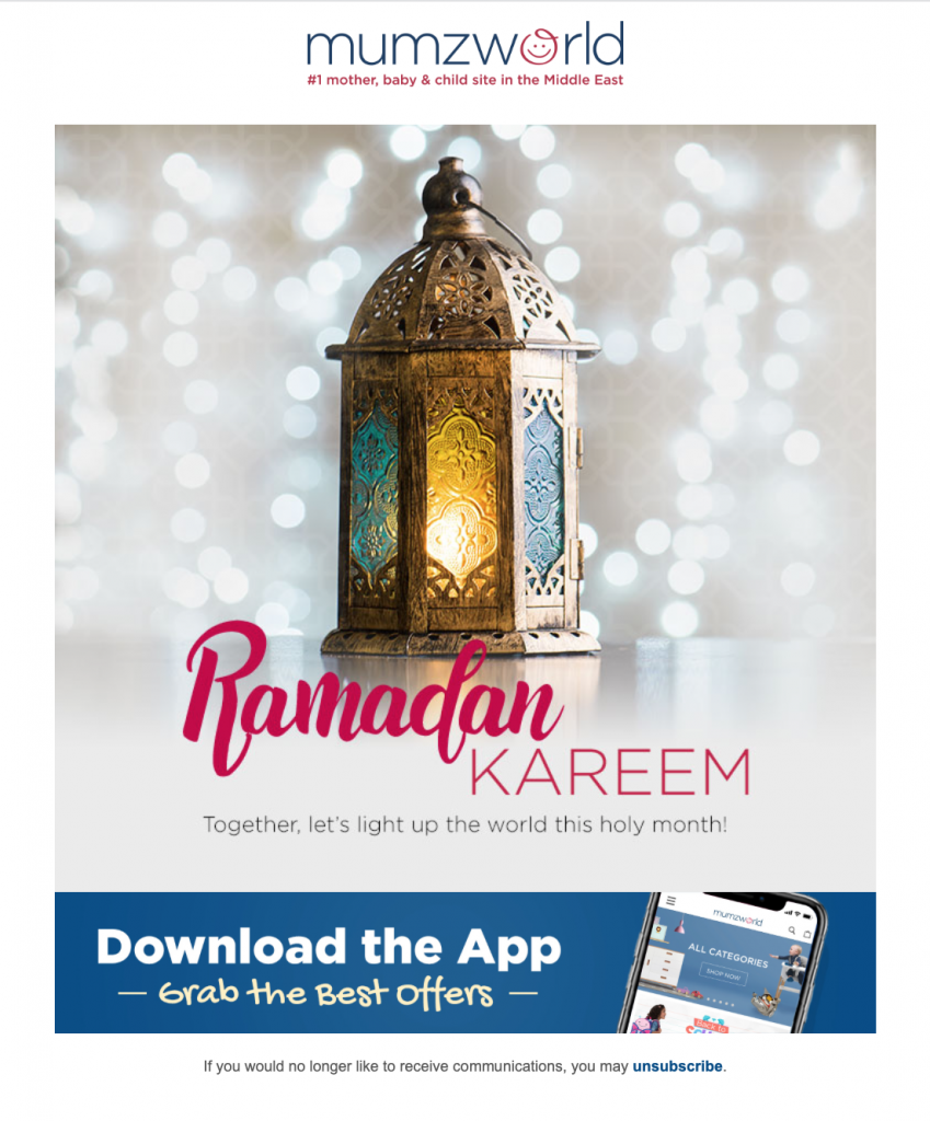 ramadan email template by Mumzworld