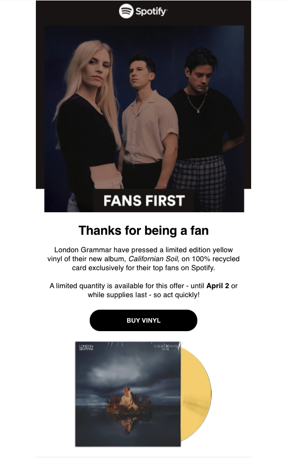 email design by Spotify