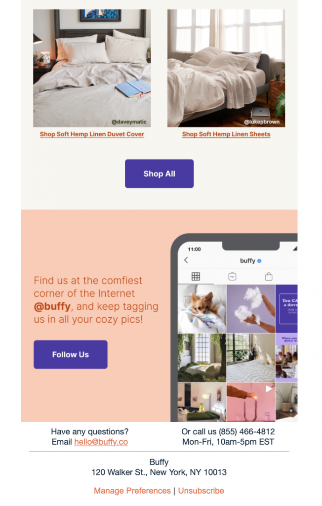 html email design by Buffy Inc