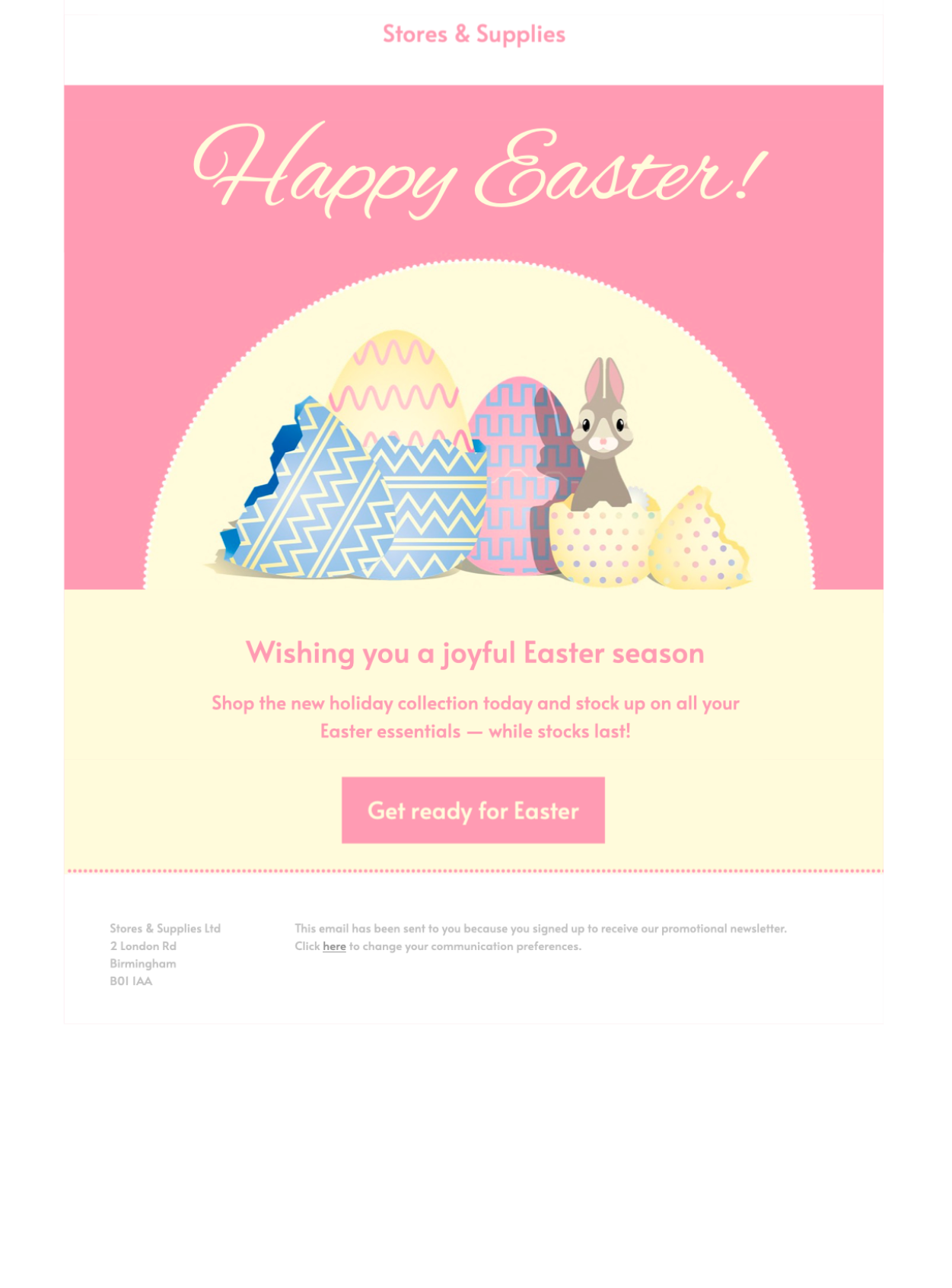 easter greeting html email template