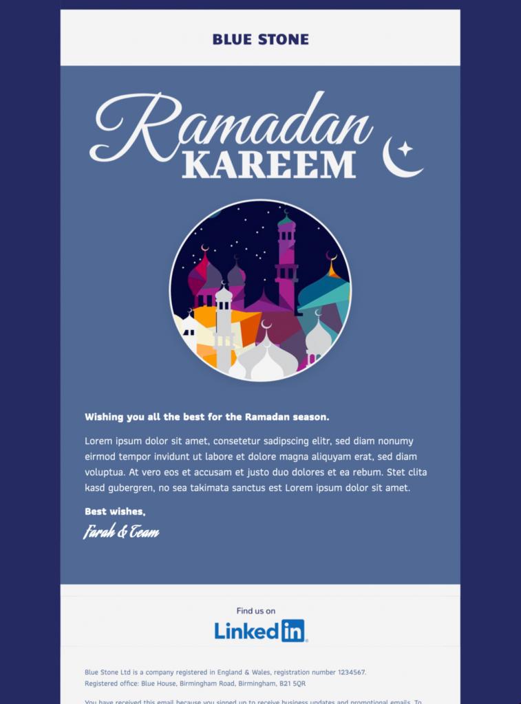 ramadan Kareem html email template