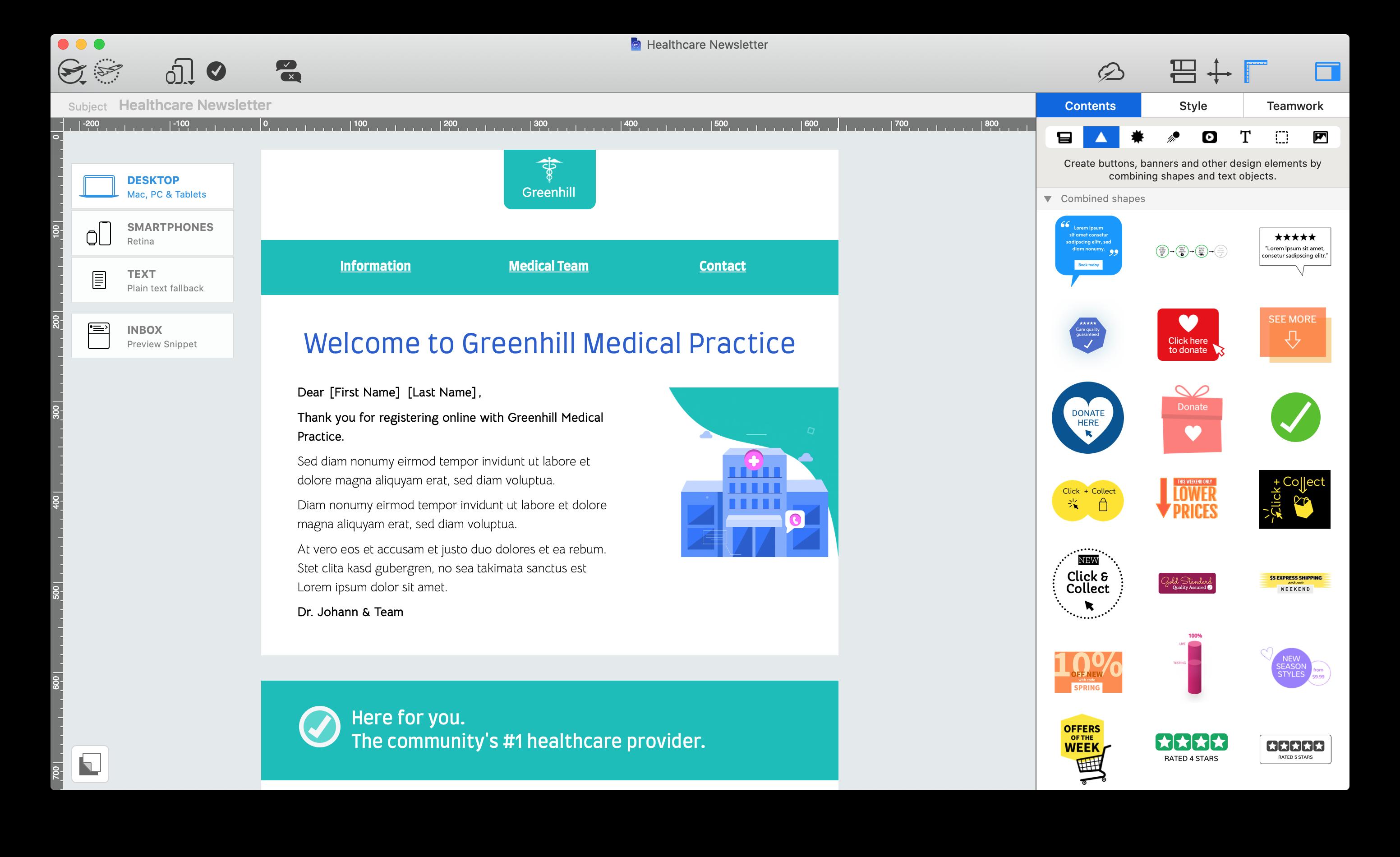 new graphics in mail designer 365 2.3