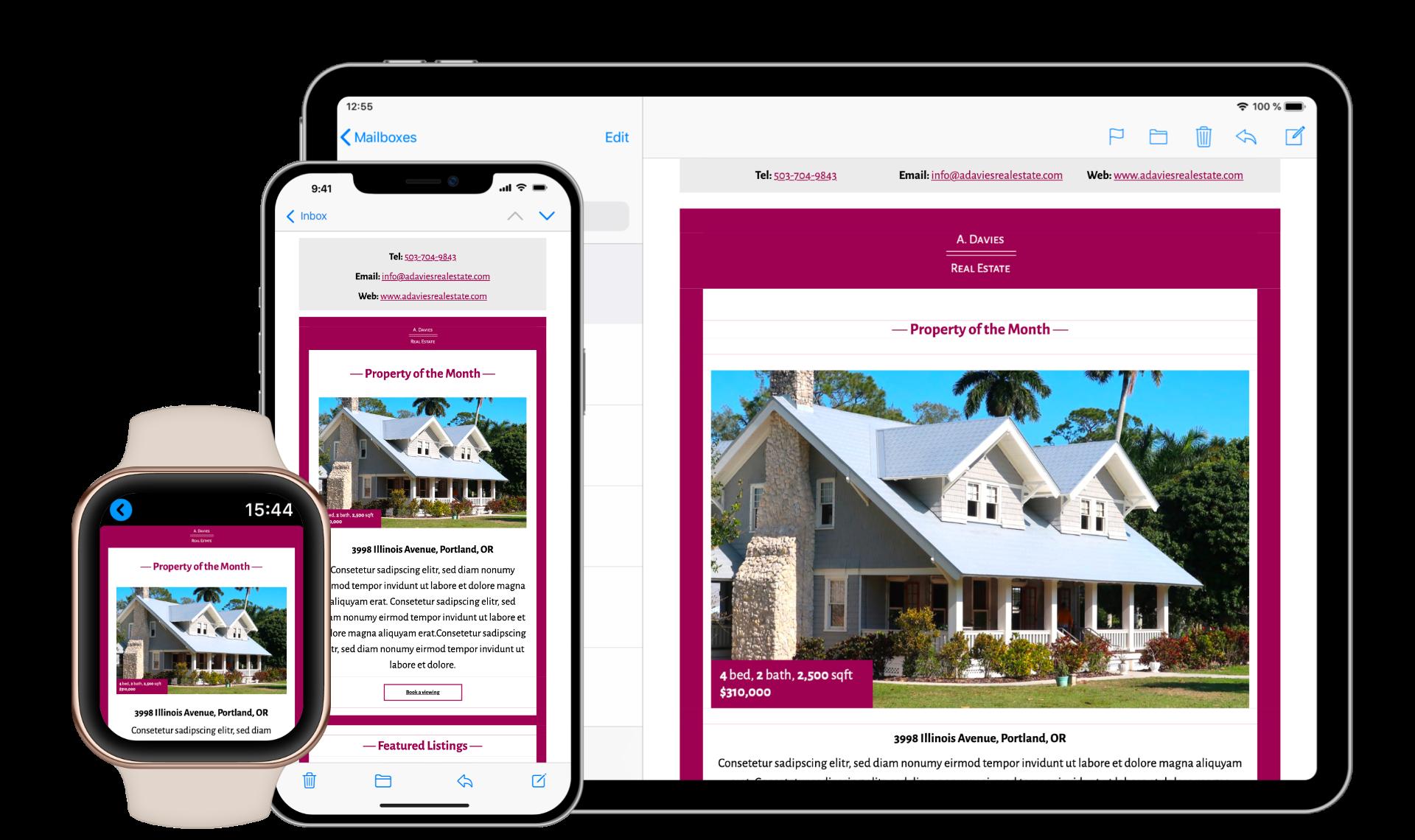 mobile responsive email design in mail designer 365