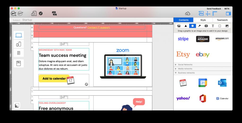 new calendar icons in Mail Designer 365