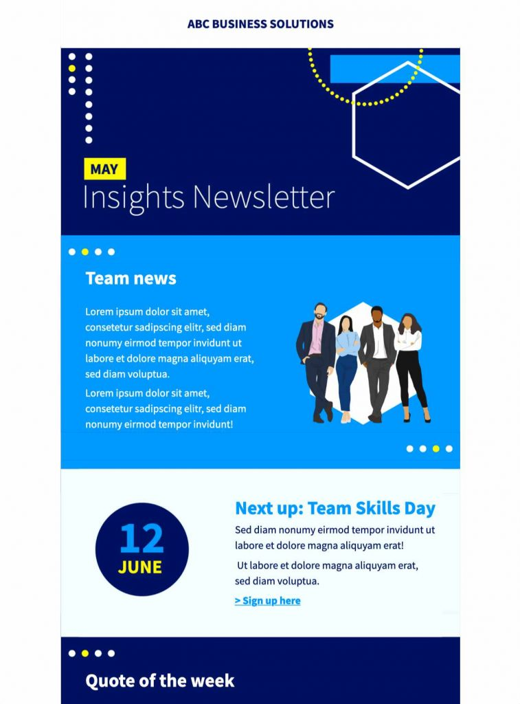 business newsletter html email template