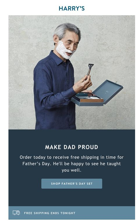 Father's Day email campaign by Harry's