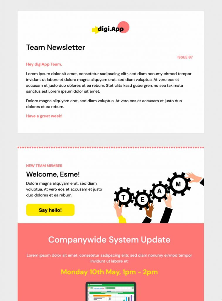 startup newsletter html email template
