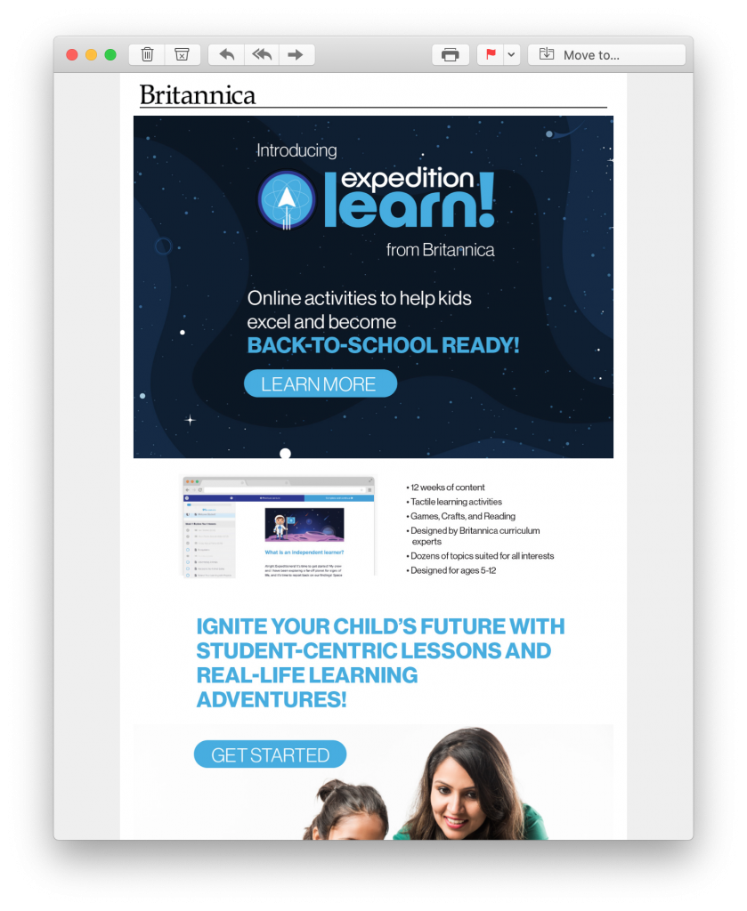 back to school product launch campaign by britannica