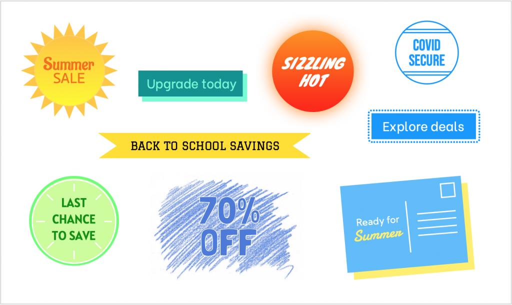 new summer graphics in mail designer 365 2.5
