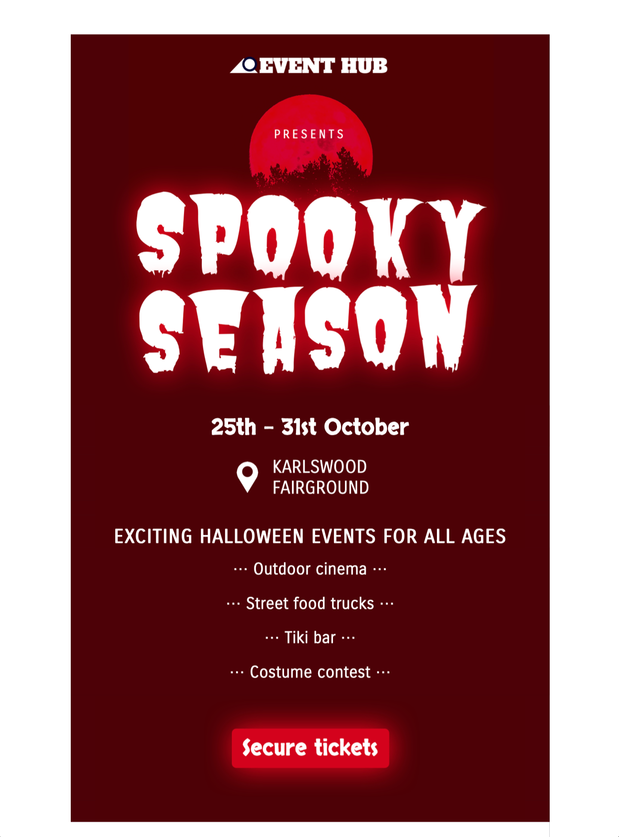 halloween event html email template